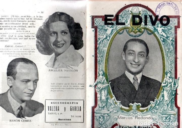 ZARZUELA EL DIVO - MARCOS REDONDO (1942) (Música - Libretos de Opera)