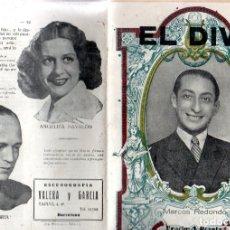 Libretos de ópera: ZARZUELA EL DIVO - MARCOS REDONDO (1942). Lote 167496656