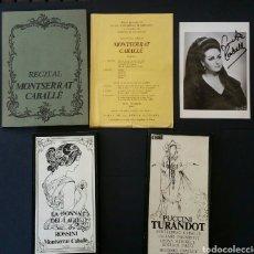 Libretos de ópera: MONTSERRAT CABALLE. FOTO AUTOGRAFO PROGRAMA RECITAL Y CASETES. Lote 170428733