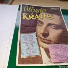 Libretos de ópera: LIBRETO CANCIONERO. LOS GRANDES ÉXITOS DE ALFREDO KRAUS. 1960. Lote 170512632