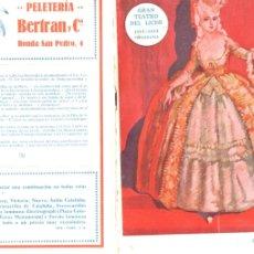 Libretos de ópera: PROGRAMA OPERA SNEGOUROTCHKA DE RIMSKY KORSAKOFF LICEO 1922. Lote 175352260