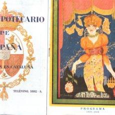 Libretos de ópera: PROGRAMA OPERA MONA LISA DE MAX SCHILLIGS LICEO 1922. Lote 175352409