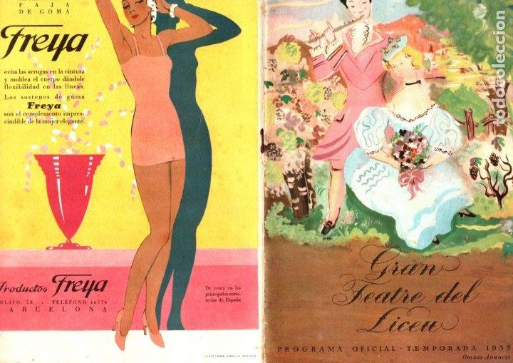 PROGRAMA OPERA LA CIUTAT INVISIBLE DE KITEG - RIMSKY KORSAKOFF LICEO 1933 (Música - Libretos de Opera)