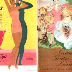 Libretos de ópera: PROGRAMA OPERA LA CIUTAT INVISIBLE DE KITEG - RIMSKY KORSAKOFF LICEO 1933. Lote 175352608