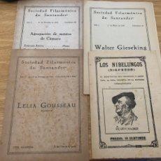 Livrets d'opéra: LIBRETOS SOCIDAD FILARMÓNICA DE SANTANDER. 1942-1943. Lote 177049078