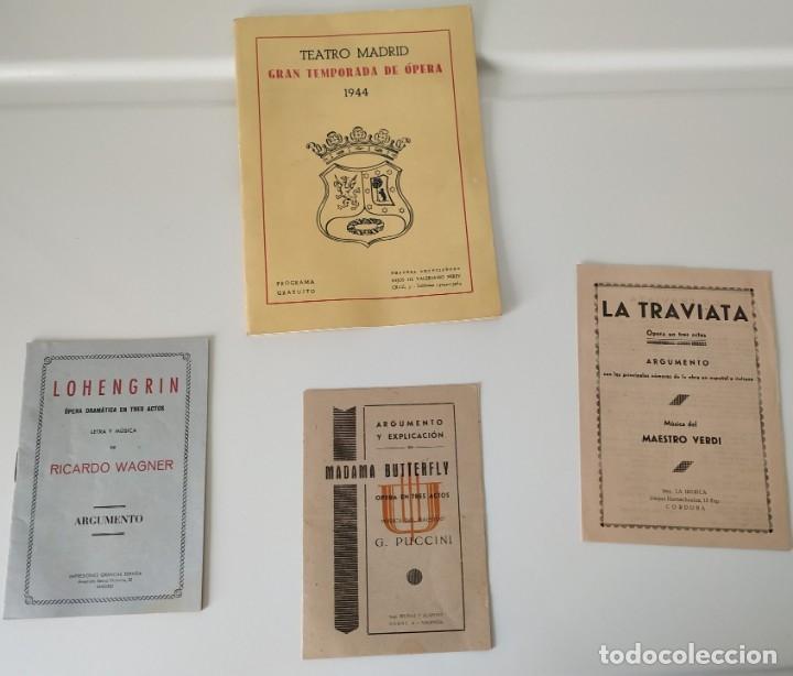 TEATRO MADRID. GRAN TEMPORADA DE ÓPERA 1944. PROGRAMA DE MANO + LIBRETOS ARGUMENTOS: LA TRAVIATA,... (Música - Libretos de Opera)
