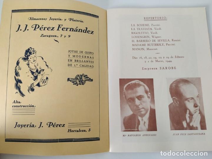 Libretos de ópera: Teatro Madrid. Gran temporada de ópera 1944. Programa de mano + libretos argumentos: La traviata,... - Foto 4 - 181800517