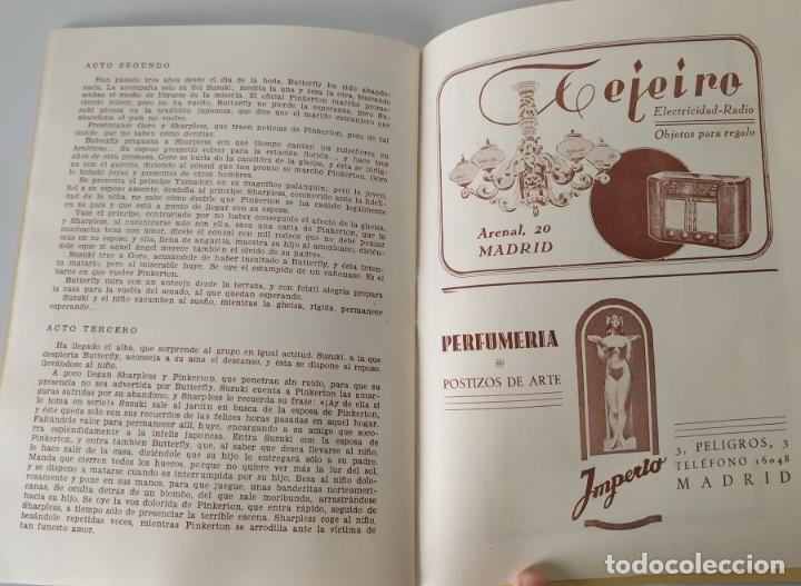 Libretos de ópera: Teatro Madrid. Gran temporada de ópera 1944. Programa de mano + libretos argumentos: La traviata,... - Foto 5 - 181800517