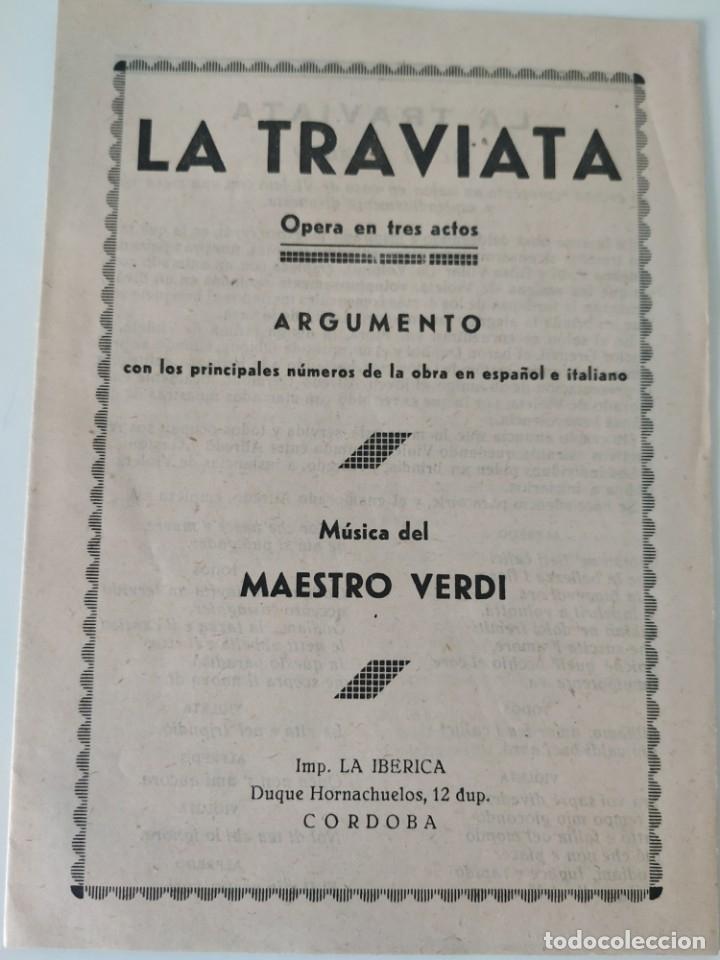 Libretos de ópera: Teatro Madrid. Gran temporada de ópera 1944. Programa de mano + libretos argumentos: La traviata,... - Foto 6 - 181800517