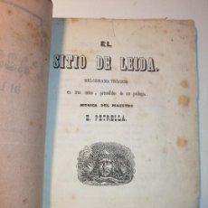 Livrets d'opéra: EL SITIO DE LEIDA, DOMENICO BOLOGNESE, MÚSICA DE E. PETRELLA. 1859 TOMAS GORCHS. Lote 183977362