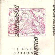 Libretos de ópera: PROGRAMA OPERA CARMEN, THEATRE NATIONAL DE L´OPERA, PARIS 1962/63, VER FOTOS. Lote 188488647