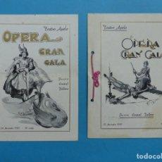 Libretos de ópera: VALENCIA - 2 LIBRETOS OPERA GRAN GALA, TEATRO APOLO, JUNTA CENTRAL FALLERA - AÑO 1943. Lote 189572411