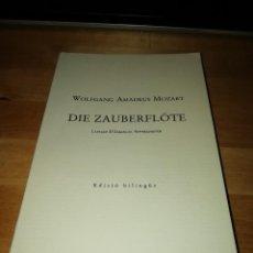 Libretos de ópera: MOZART - DIE ZAUBERFLÖTE - LA FLAUTA MÀGICA - EMANUEL SCHIKANEDER - L'AVENÇ 1991 - W.H. AUDEN. Lote 189714095