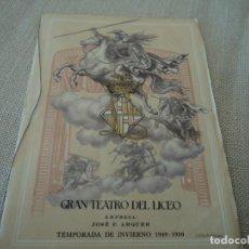 Libretos de ópera: PROGRAMA GRAN TEATRO DEL LICEO OPERA TRISTAN E ISOLDA EL OCASO DE LOS DIOSES 1949 MARCAPAGINAS. Lote 189987285