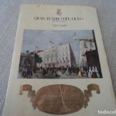Libretos de ópera: PROGRAMA GRAN TEATRO DEL LICEO TEMPORADA DE CUARESMA TITO SCHIPA 1948. Lote 190000673
