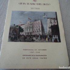 Libretos de ópera: PROGRAMA GRAN TEATRO DEL LICEO OPERA TANNHAUSER VICTORIA DE LOS ANGELES 1948. Lote 190001211