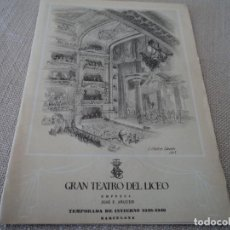 Libretos de ópera: PROGRAMA GRAN TEATRO DEL LICEO OPERA EL BARBERO DE SEVILLA 1948. Lote 190005850