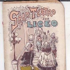 Libretos de ópera: PROGRAMA TEATRO DEL LICEO COMPAÑIA DE OPERA ITALIANA 1900-1901. Lote 191440082