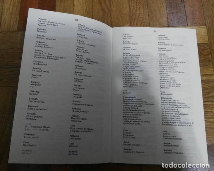 Libretos de ópera: Madama Butterfly Giacomo Puccini 47 Paginas Opera en Tres Actos Selecta Visión 1983 - Foto 4 - 193873472