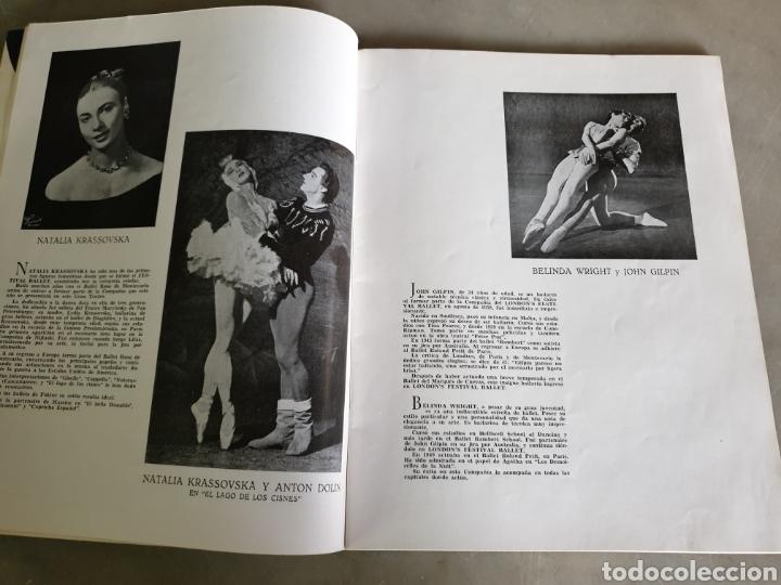 Libretos de ópera: Gran teatro del liceo. Barcelona. Temporada de primavera 1954. Festival Ballet - Foto 3 - 195168326