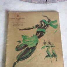 Libretos de ópera: GRAN TEATRO DEL LICEO. BARCELONA. TEMPORADA DE PRIMAVERA 1954. FESTIVAL BALLET. Lote 195168326