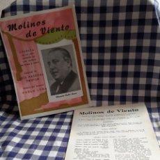 Libretos de ópera: MOLINOS DE VIENTO ,OPERETA EN UN ACTO ,MUSICA DEL MTRO ,PABLO LUNA,UNION MUSICAL ESPAÑOLA. Lote 197191747