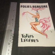 Libretos de ópera: FOLIES BERGERE PARIS, LEER DESCRIPCION. Lote 197261713