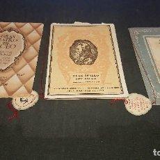 Libretos de ópera: LOTE DE 3 PROGRAMAS - GRAN TEATRO LICEO COM MARCA PAGINAS DE COLONIAS, LEER DESCRIPCION. Lote 197261967