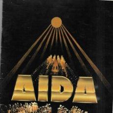 Libretos de ópera: AIDA OPERA DE VERDI CON 40 PAGINAS EL LIBRETO EN FRANCES. Lote 200352192