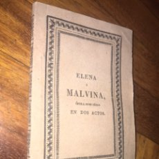 Libretos de ópera: RAMÓN CARNICER, OPERA ELENA Y MALVINA. MADRID SANCHA 1829.. Lote 200357095