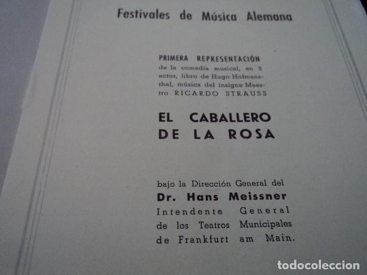 Libretos de ópera: GRAN TEATRO DEL LICEO festivales musica alemana el caballero de la rosa.1944 director hans meissner - Foto 2 - 202424817