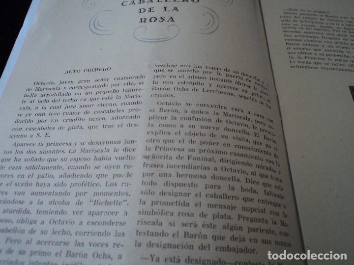 Libretos de ópera: GRAN TEATRO DEL LICEO festivales musica alemana el caballero de la rosa.1944 director hans meissner - Foto 4 - 202424817