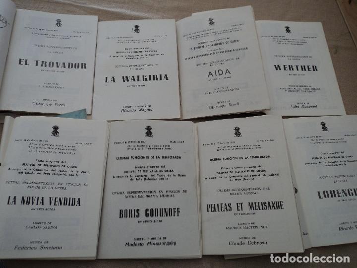 Libretos de ópera: 8 programas de opera gran teatro del liceo de barcelona 1963 leer descripcion de operas y cantantes - Foto 2 - 202934038