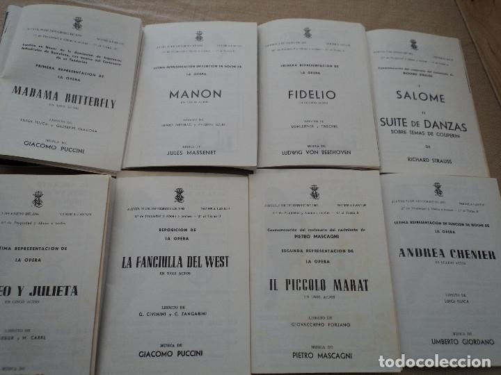 Libretos de ópera: 8 programas de opera gran teatro del liceo de barcelona 1963 leer descripcion de operas y cantantes - Foto 2 - 202935440