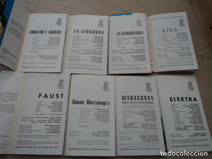 Libretos de ópera: 8 programas de opera gran teatro del liceo de barcelona 1970 leer descripcion de operas y cantantes - Foto 2 - 202937097