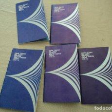 Libretos de ópera: 5 PROGRAMAS DE OPERA GRAN TEATRO DEL LICEO DE BARCELONA 1973 LEER DESCRIPCION DE OPERAS Y CANTANTES. Lote 202940005