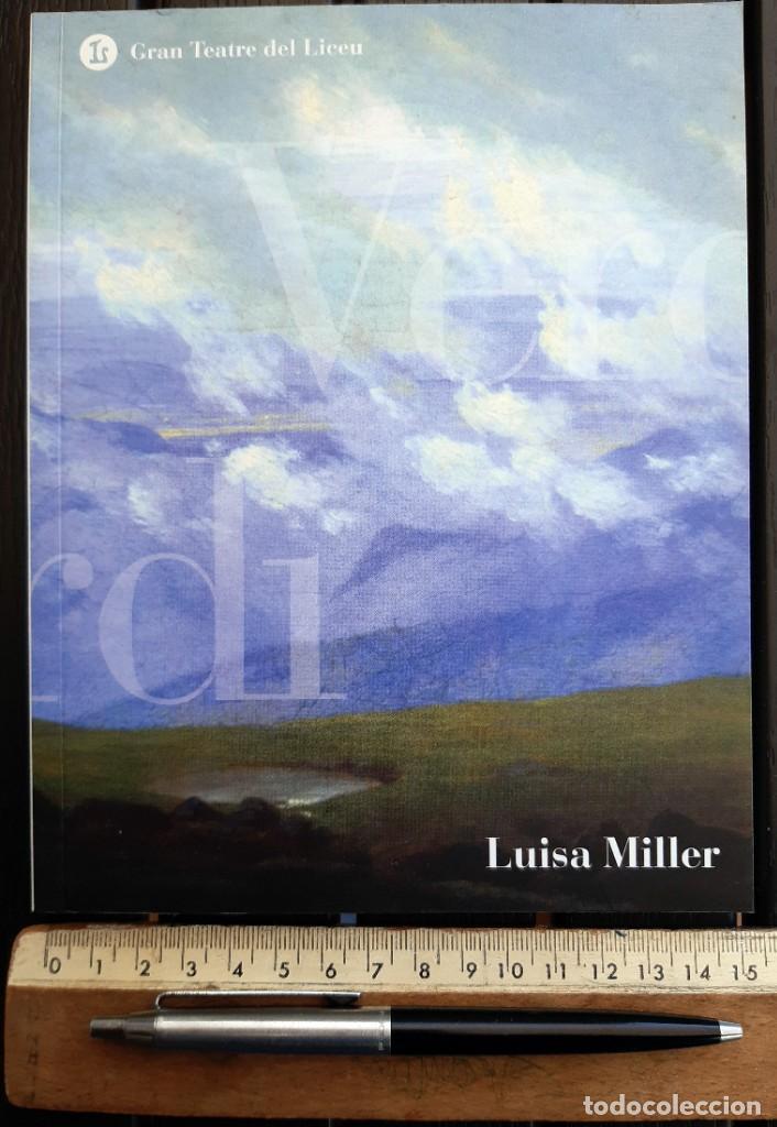 """LIBRETO ÓPERA, """"LUISA MILLER"""" DE VERDI. LICEO BARCELONA. LICEU 2008. SAMUEL RAMEY. IDIOMA: CATALÁN (Música - Libretos de Opera)"""