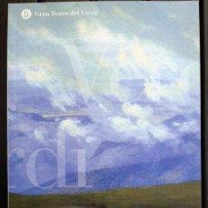 """Libretos de ópera: LIBRETO ÓPERA, """"LUISA MILLER"""" DE VERDI. LICEO BARCELONA. LICEU 2008. SAMUEL RAMEY. IDIOMA: CATALÁN. Lote 205133450"""