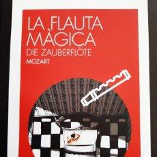 "Libretos de ópera: LIBRETO ÓPERA,""DIE ZAUBERFLÖTE"" (LA FLAUTA MÁGICA) DE MOZART. LICEU 2016. IDIOMA: CATALÁN. Lote 205182097"