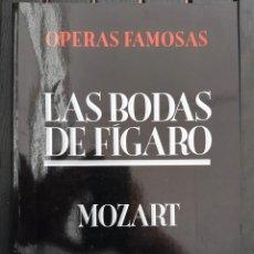 "Libretos de ópera: LIBRO ÓPERA, ""LAS BODAS DE FÍGARO "" (LE NOZZE) DE MOZART. AÑO 1991. IDIOMA: CASTELLANO. Lote 205183896"