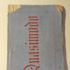 Libretos de ópera: LIBRETO DE QUASIMODO MELODRAMMA IN QUATTRO ATTI, LICEO FILARMONICO-DRAMATICO BARCELONÉS 1867.. Lote 205437566