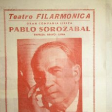 Libretos de ópera: PROGRAMA DE LA ZARZUELA KATIUSKA DIRIGIDA POR P. SOROZÁBAL.TEATRO FILARMÓNICA. OVIEDO, 1959.. Lote 205788750
