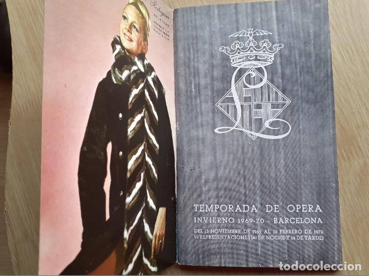Libretos de ópera: PROGRAMA GRAN TEATRO DEL LICEO - TEMPORADA DE OPERA INVIERNO 1969 -70 BARCELONA - CON AUTOGRAFOS - Foto 3 - 206761178
