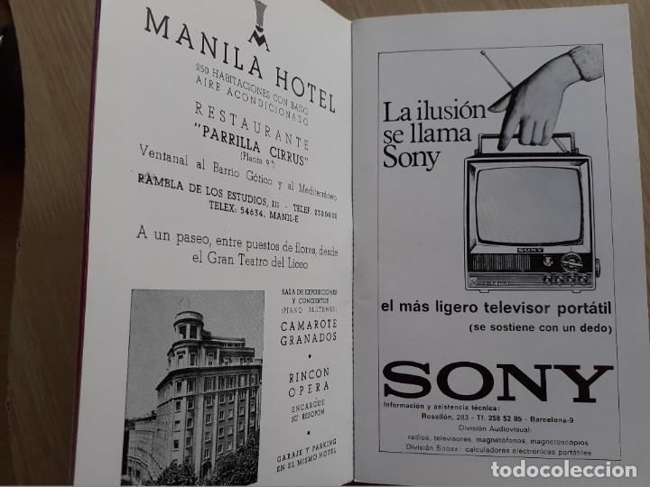 Libretos de ópera: PROGRAMA GRAN TEATRO DEL LICEO - TEMPORADA DE OPERA INVIERNO 1969 -70 BARCELONA - CON AUTOGRAFOS - Foto 6 - 206761178