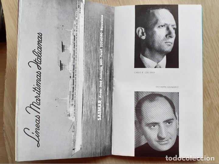 Libretos de ópera: PROGRAMA GRAN TEATRO DEL LICEO - TEMPORADA DE OPERA INVIERNO 1969 -70 BARCELONA - CON AUTOGRAFOS - Foto 10 - 206761178