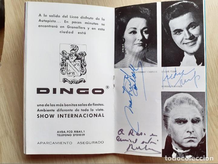 Libretos de ópera: PROGRAMA GRAN TEATRO DEL LICEO - TEMPORADA DE OPERA INVIERNO 1969 -70 BARCELONA - CON AUTOGRAFOS - Foto 11 - 206761178