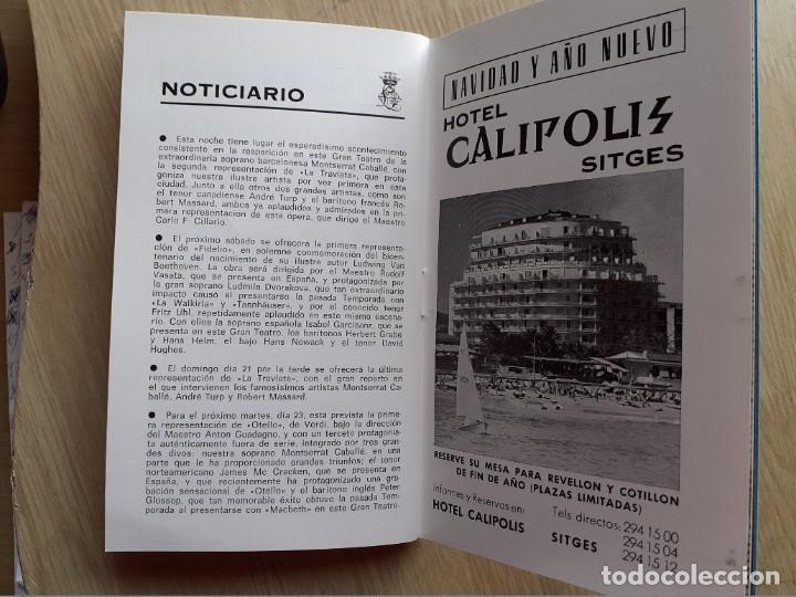 Libretos de ópera: PROGRAMA GRAN TEATRO DEL LICEO - TEMPORADA DE OPERA INVIERNO 1969 -70 BARCELONA - CON AUTOGRAFOS - Foto 19 - 206761178