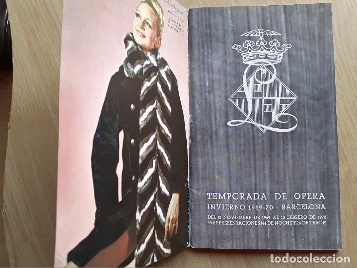 Libretos de ópera: PROGRAMA GRAN TEATRO DEL LICEO - TEMPORADA DE OPERA INVIERNO 1969 -70 BARCELONA - CON AUTOGRAFOS - Foto 3 - 206761891
