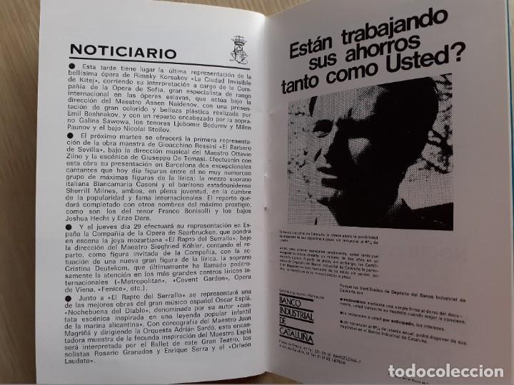 Libretos de ópera: PROGRAMA GRAN TEATRO DEL LICEO - TEMPORADA DE OPERA INVIERNO 1969 -70 BARCELONA - CON AUTOGRAFOS - Foto 14 - 206761891