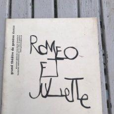 Libretos de ópera: ROMEO ET JULIETTE. TEATRO DE GENOVA. SERGUEI PROKOFIEV. Lote 209689091